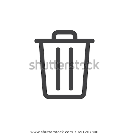 delete Icon. line style vector illustration stock photo © taufik_al_amin