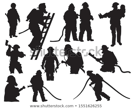 Fireman Silhouette Stock photo © Krisdog