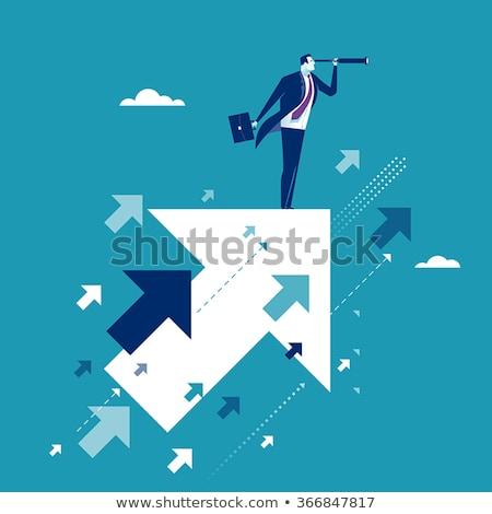 üzlet · alkalom · üzletember · felső · külső · távcső - stock fotó © rastudio