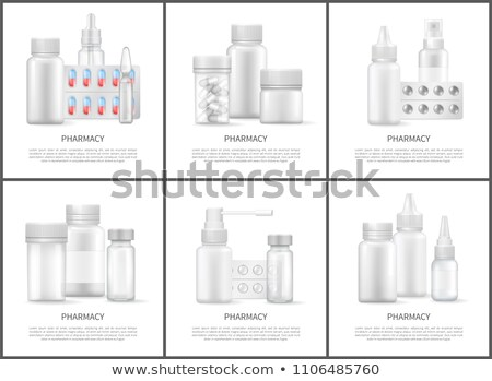 Pharmacy and Medicines Means Bright Vector Posters Stock photo © robuart