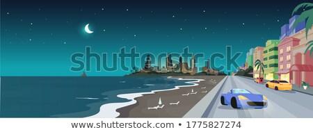 Cartoon Floride illustration souriant visage heureux Photo stock © cthoman