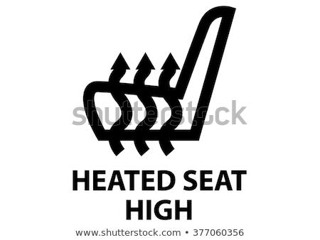ícone · assento · branco · pintura · preto · ar - foto stock © smoki