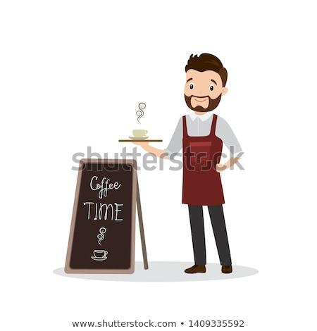 Adam barmen tahta örnek çalışmak Stok fotoğraf © lenm