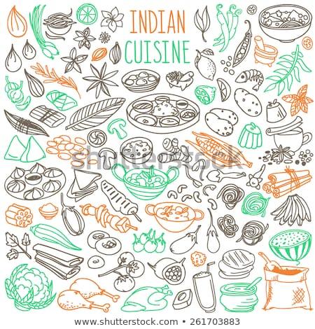 Indian Fruits Set India Food Vector Illustration Stock photo © robuart