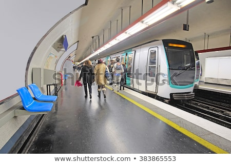 metro subway station sign in paris stock photo © vapi