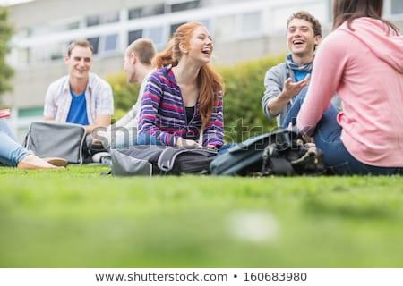 Erkek öğrenci park gülümseme adam okul Stok fotoğraf © Minervastock
