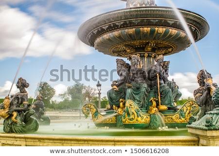 Fontaine des Fleuves in Paris Stock photo © boggy