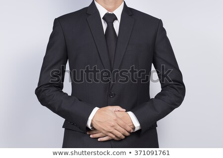 mode · elegante · jonge · zwart · pak · man - stockfoto © feedough