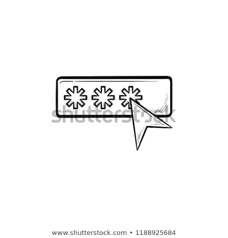 Password with cursor hand drawn outline doodle icon. Stock photo © RAStudio