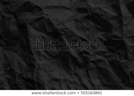 Stock photo: Black Crumpled Paper Background, black crumpled paper texture