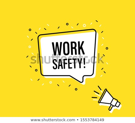 Megaphone Safety First Speech Bubble Concept Stock photo © ivelin