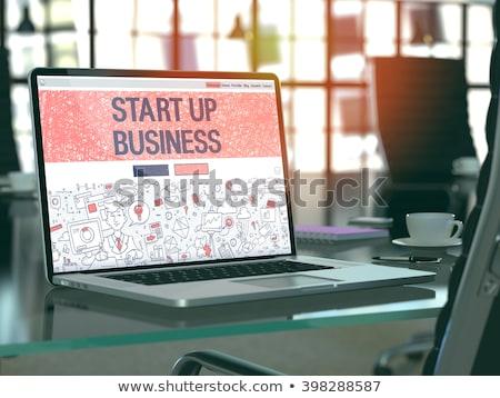 Business landing pagina bedrijf beheer opleiding Stockfoto © RAStudio