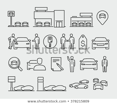 Car Center Buyer and Manager, Vehicle Showroom Stock photo © robuart