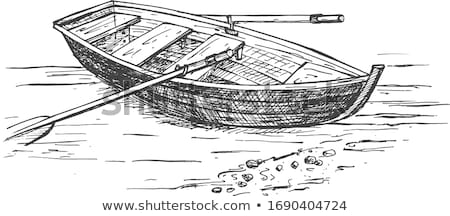fishing boat with oars marine traveling vessel stock photo © robuart