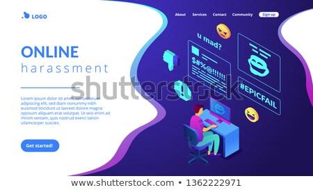 Internet shaming isometric 3D landing page. Stock photo © RAStudio