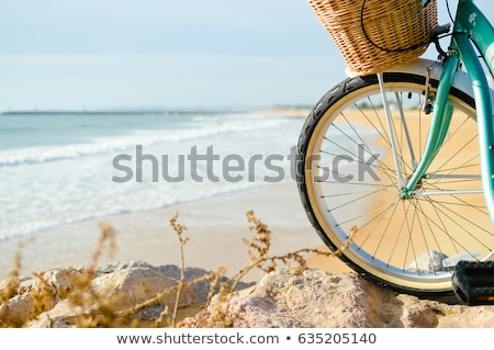 Piękna młodych kobieta fitness jazda konna rower Zdjęcia stock © deandrobot