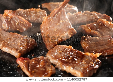 Beef minute steaks Stock photo © joker