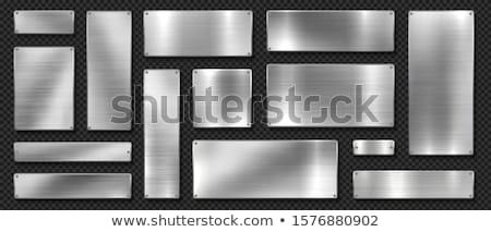 набор металлический Кнопки поверхность металл знак Сток-фото © SArts