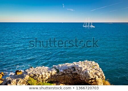 French riviera sailing near Antibes Stock photo © xbrchx