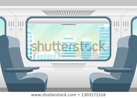 Interior of train Stock photo © jamdesign