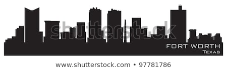 Forte valor cityscape Texas cidade panorama Foto stock © Winner