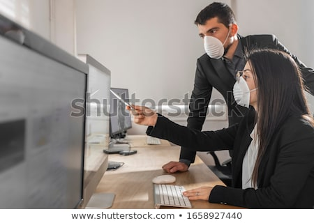 Protecting young business. Stock photo © lichtmeister