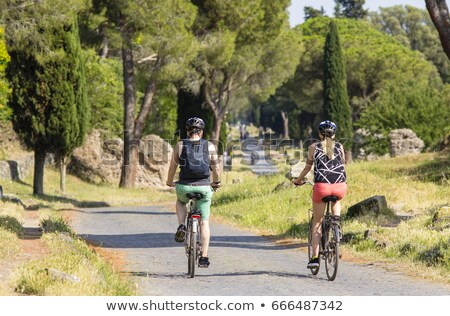 man cycling by the Via Appia Antica in Rome, Italy Stock photo © nito