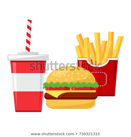Hamburger viande boire vecteur bouteille cheeseburger Photo stock © robuart