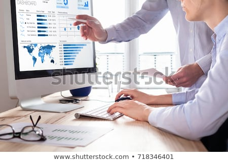 Statistical Data Analysis, People Discussing Sales Stock photo © robuart