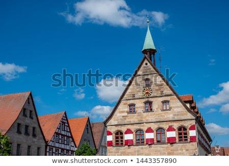 Oude binnenstad hal Duitsland markt vierkante hemel Stockfoto © borisb17