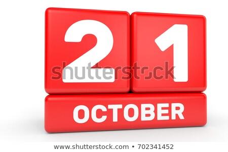 Cubes 21st October Stock photo © Oakozhan