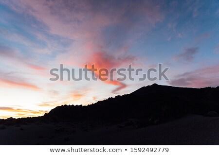 Kamera mozgás hegyek gyönyörű naplemente Kanári-szigetek Stock fotó © ruslanshramko