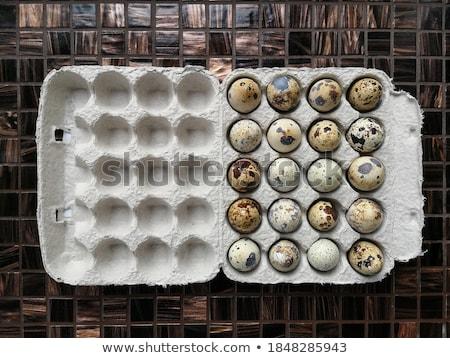 Cartão vinte fresco ovos marrom papel Foto stock © Digifoodstock