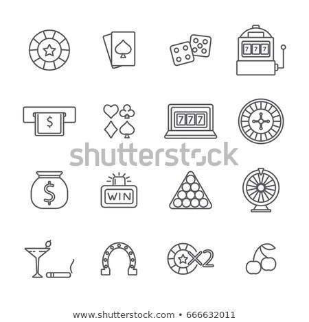 Kézjel pénz fogadás hazárdjáték ikon vektor Stock fotó © pikepicture
