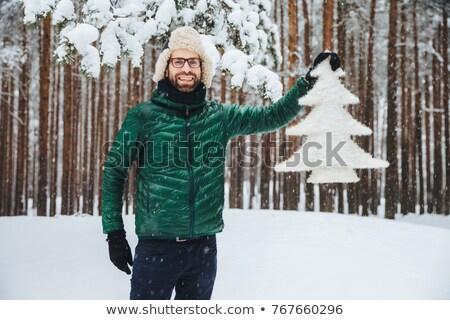 посмотреть красивой бородатый человека Сток-фото © vkstudio