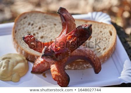 свежие служивший горчица разделочная доска Сток-фото © grafvision
