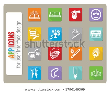 Zając krishna web ikony użytkownik interfejs Zdjęcia stock © ayaxmr