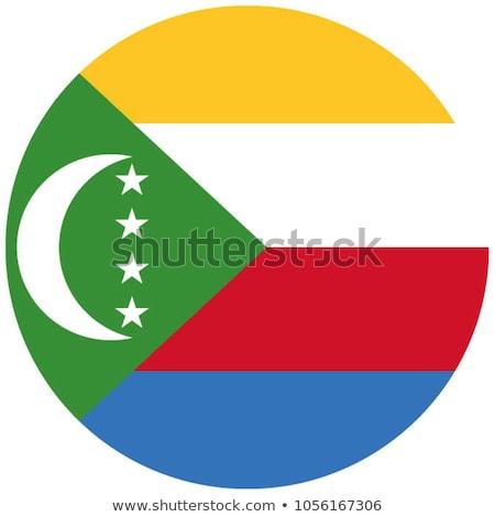 Comoros flag, vector illustration on a white background Stock photo © butenkow