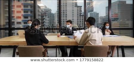 Social distancing practise Stock photo © szefei