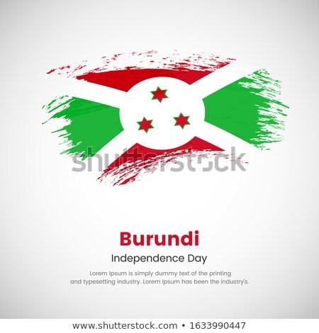 Burundi grunge bandeira velho vintage textura do grunge Foto stock © HypnoCreative