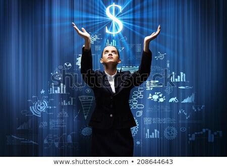 pregando · dollaro · 3D · reso · illustrazione · isolato - foto d'archivio © spectral