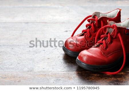 piros · babacipők · baba · gyerek · cipők · fehér - stock fotó © ruslanomega