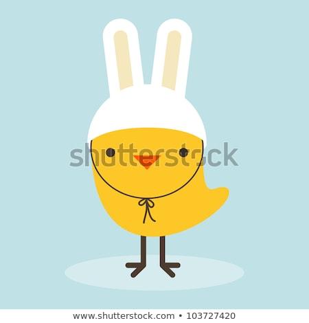 Paskalya · civciv · kırık · yumurta · sarı · karikatür - stok fotoğraf © loopall