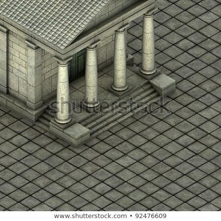 isometric 3d render of a Greek Roman temple Stock photo © Melvin07