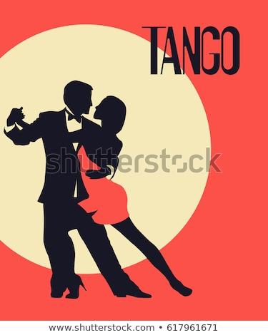 два танго белый женщину улыбка вечеринка Сток-фото © get4net