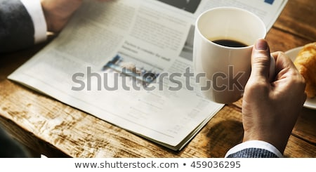 Genç işadamı okuma gazete iş çalışmak Stok fotoğraf © photography33