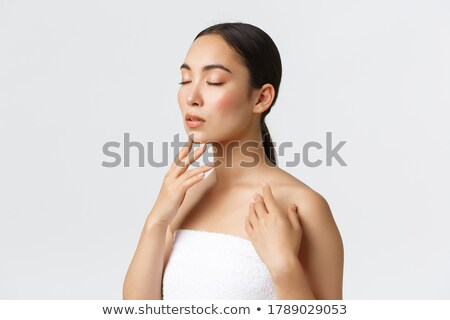 nő · gyengéd · mosoly · vonzó · hóbortos · lány - stock fotó © stryjek