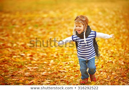fly happy family with autumn leaves  Stock photo © Paha_L
