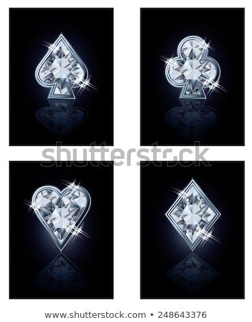 poker · diamanti · brillante · carta · moda · sfondo - foto d'archivio © carodi