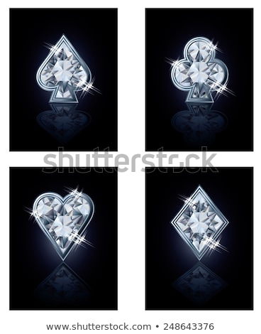 Briljant poker kaart diamanten ontwerp behang Stockfoto © carodi